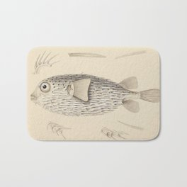 Naturalist Pufferfish Bath Mat