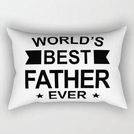 World's Best Father Ever Rectangular Pillow