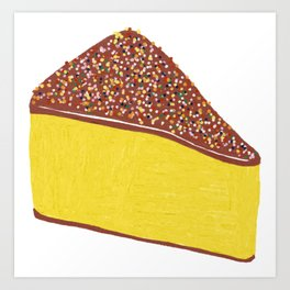 Yellow Cheesecake Art Print