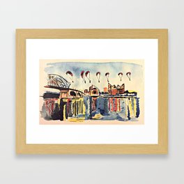 Chattanooga Fly By Framed Art Print