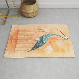 An Exotic Stork Rug