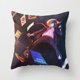 Space Exploiter Throw Pillow