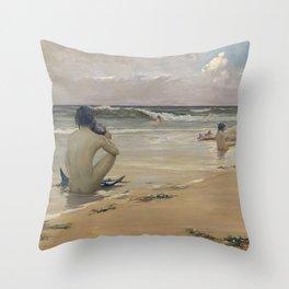 Rupert Bunny - Sea idyll, 1891 Throw Pillow