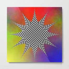 Modern Checkered Plasma Metal Print