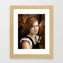 Newsom Heart Framed Art Print