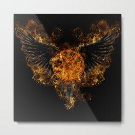 Supernatural Hell's Wings Metal Print