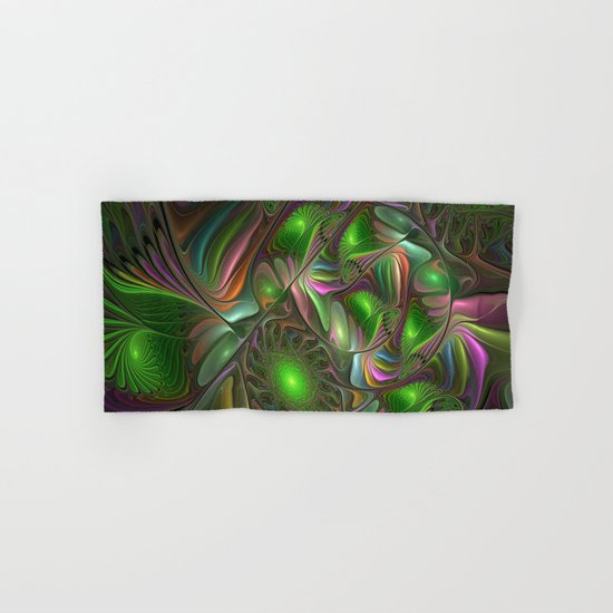 Colorful and Luminous, Abstract Fractal Art Hand & Bath Towel