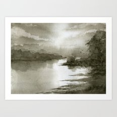 A Splash of Sepia Art Print