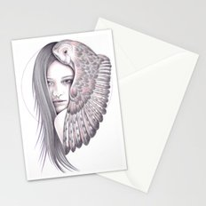 Alone With The Owl Stationery Cards