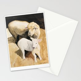Ewe and lamb Stationery Cards