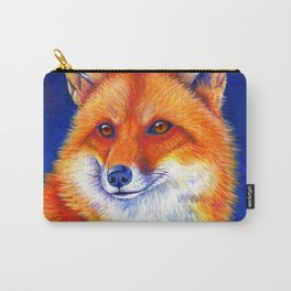 Colorful Red Fox Portrait Carry-All Pouch