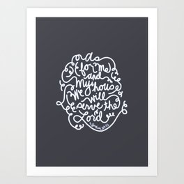 We Will Serve the Lord Art Print