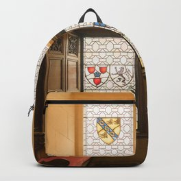 Edinburgh castle stained glass windows Scotland Backpack