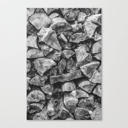 Woodpile | Firewood Stack Canvas Print