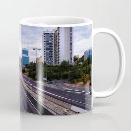 Motorway in Madrid at sunset Coffee Mug