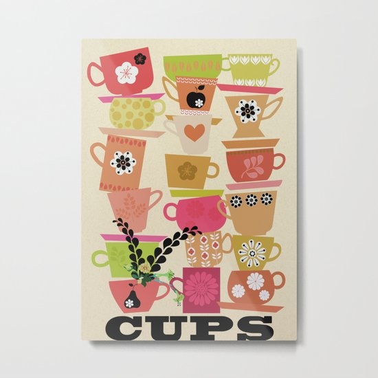 cups! Metal Print
