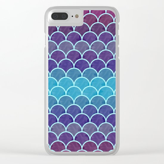 Watercolor Lovely Pattern VVIII Clear iPhone Case
