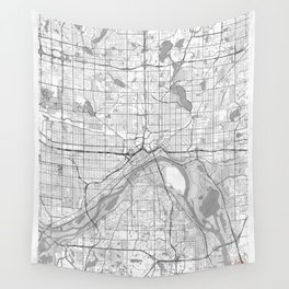 St Paul Map Line Wall Tapestry