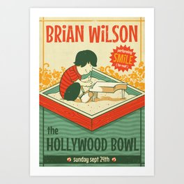 Smile Live at the Hollywood Bowl Art Print