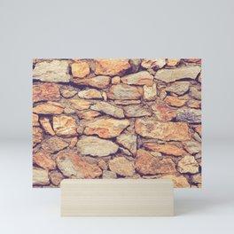 Rocky Stone Masonry Cladding Mini Art Print