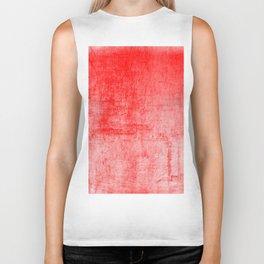 Distressed Coral Textured Canvas Biker Tank