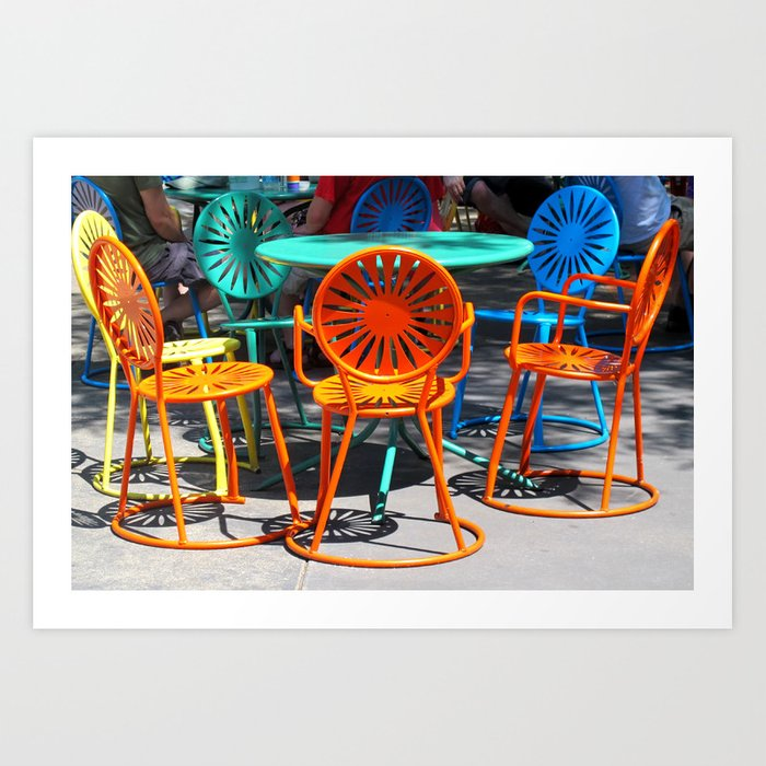 Colorful Chairs Of Union Terrace   University Of Wisconsin, Madison Art  Print
