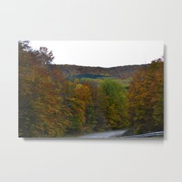 Fall Color Scenic Overlook Metal Print