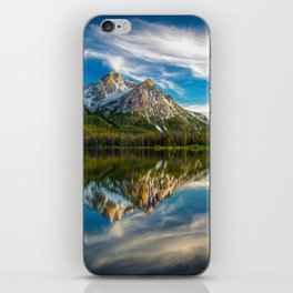Sawtooth Range Morning Reflection iPhone Skin