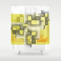 labyrinth Shower Curtains featuring Labyrinth by Sally Rud
