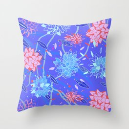 Heroinax Freaky Flowers Throw Pillow