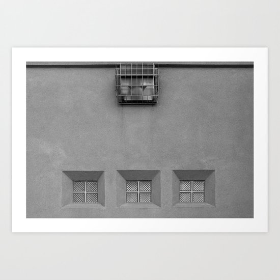 Three Little Windows  Art Print