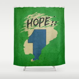 Hope!! (time machine ) Shower Curtain