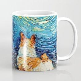 Corgi in Starry Night Coffee Mug
