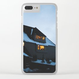 Timberline Lodge Glow Clear iPhone Case