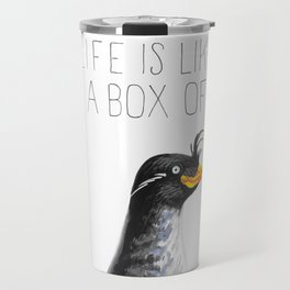Life Is Like A Box Of Auklets (Crested Auklet) Travel Mug