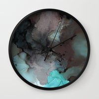pool Wall Clocks featuring Pool by Amie Amyotte