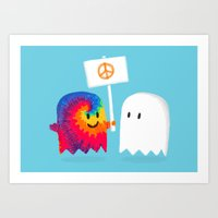 hippie Art Prints featuring Hippie ghost by Picomodi