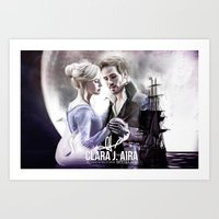 captain swan Art Prints featuring Captain Swan by Clara J Aira