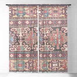 Shahsavan Moghan Southeast Caucasus Mafrash Print Sheer Curtain