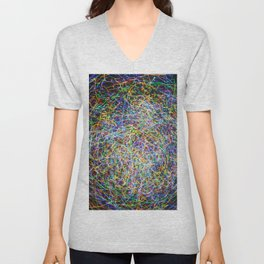 Ball of String Light painting Unisex V-Neck