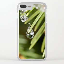 Winter drops Clear iPhone Case