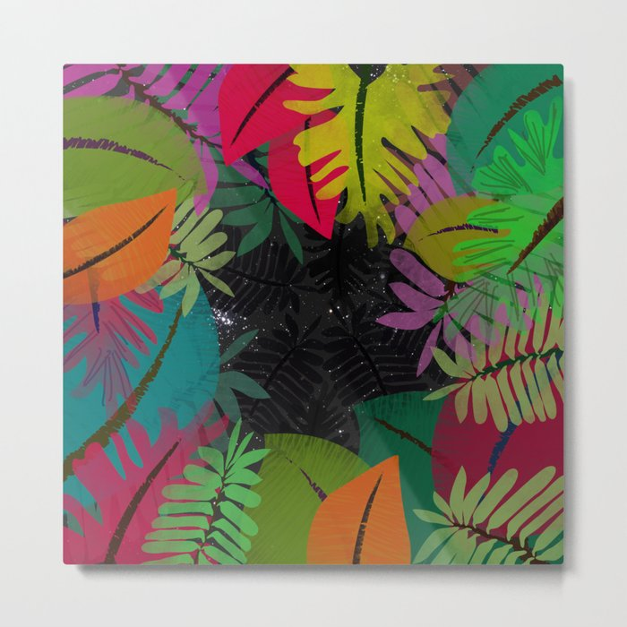 Cosmic Jungle Metal Print