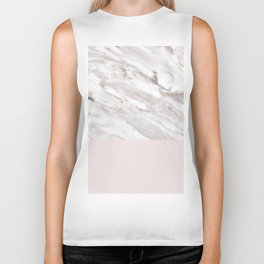 Blush and taupe marble Biker Tank