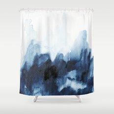 Indigo watercolor 2 Shower Curtain