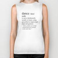 dance Biker Tanks featuring Dance by haleyivers