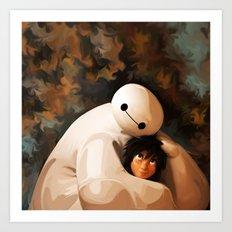 Baymax Love Art Print