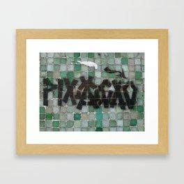 pixaçao + stencil Framed Art Print
