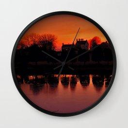 Sunset Reflections Wall Clock