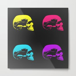 Graphic Skulls Metal Print