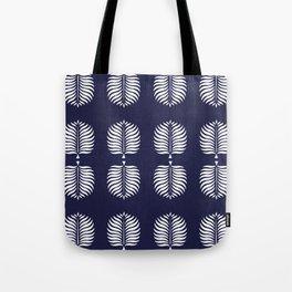 TROPICAL PALMS . BLUE + WHITE Tote Bag